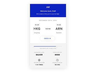 Scandinavian Airlines App Concept sas behance dribbble direction art design mobile flight ux ui