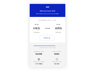 Scandinavian Airlines App Concept sas behance dribbble direction art design mobile flight ux ui