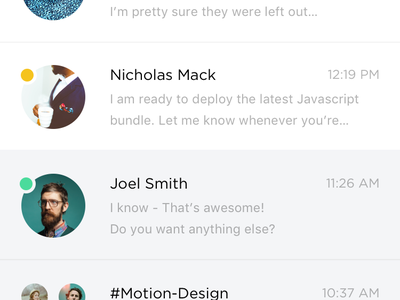 Introducing New Interface for Slack - Messaging App flat ios graidents app interface ux ui profile messaging slack