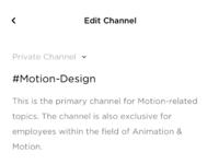 Edit channel
