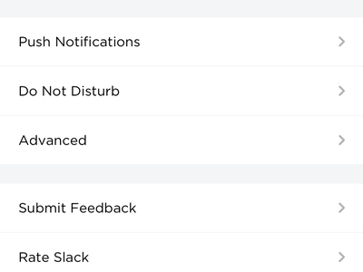 Introducing New Interface for Slack - Settings & Profile flat ios graidents app interface ux ui profile messaging slack