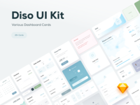 Diso UI Kit — Various Dashboard Cards & Elements