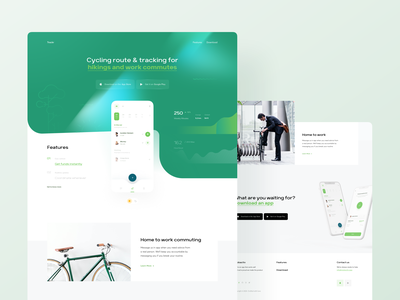 Trackr App — Landing Page Design android fitness app application apple app landing template app landing page app design fitness minimal app landing landing page gradients flare northern lights landing clean app ndro tavdro sandro tavartkiladze