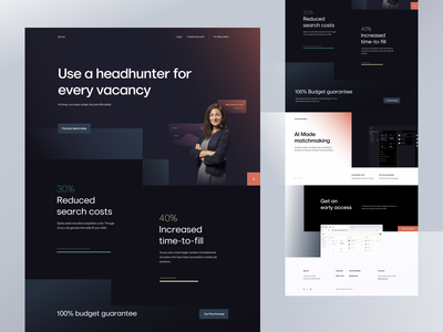 Landing Exploration landing page landing tbilisi sandro tavartkiladze ndro muted colors illustration employee employee management hr software hrsoftbd hr cloud hr landing hr app hr management hrms home website landingpage