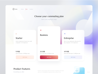 Pricing Page — Choose Plan ndro gradients gradient colorful colors website web web design landing enterprise business starter features pricing table plan pricing plan choose plan choose pricing pricing page