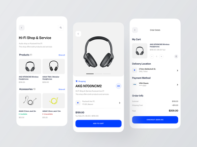 Shopping App cart delivery payment checkout page checkout flow add to cart ecommerce shop shopping basket shopping cart shopping bag order details app shopping app ecommerce order headphones shopping shop profile checkout shop