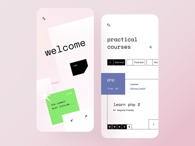App Exploration vintage retrowave retro design front-end back-end online course coding logo css 2d mono retro retrofuturistic courses commit php learning platform coding learning app course learning