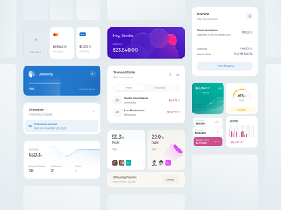 Dashboard Elements stats statistics analysis data visualization data dataviz dashboard elements dashboard components dashboard ui dashboard design cards cards ui dashboard cards reporting upload invoice transactions graph charts