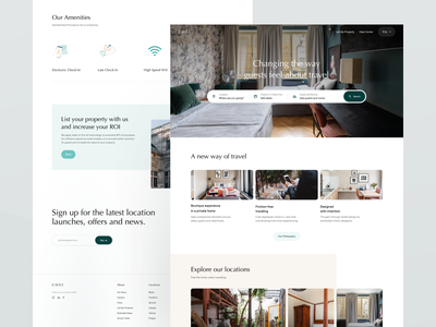COSI — Landing Page book bookings landing property page rental airbnb real estate agency real estate agent real estate estate home property marketing property management rental app rental website booking book now hotel hotel booking hotel booking app
