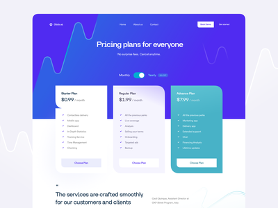 Pricing Page Exploration advance plan cyan purple illustration waves pattern buy features pricing pricing table exploration landing page regular regular plan choose pricing choose plan pricing plans pricing plan plang pricing page