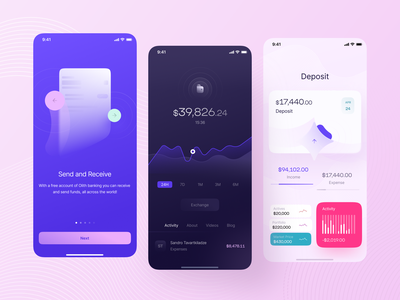 Fintech App price activities activity book activity feed transactions activity deposit splash screen guide balance wallet finances finance bankingapp banking business app fintech logo fintech app app exploration fintech