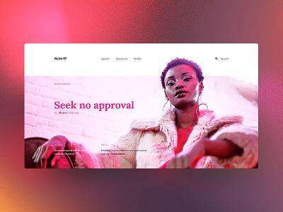 Noire 97 tavdro sandro tavartkiladze website web ux store minimal desktop neon pink fashion ui interface user