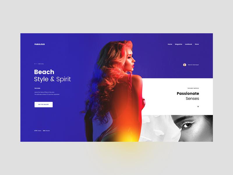 Fabulous — Fashion Blog Concept tavdro sandro tavartkiladze whitespace white ux ui store photography minimalism minimal grid fashion clean art