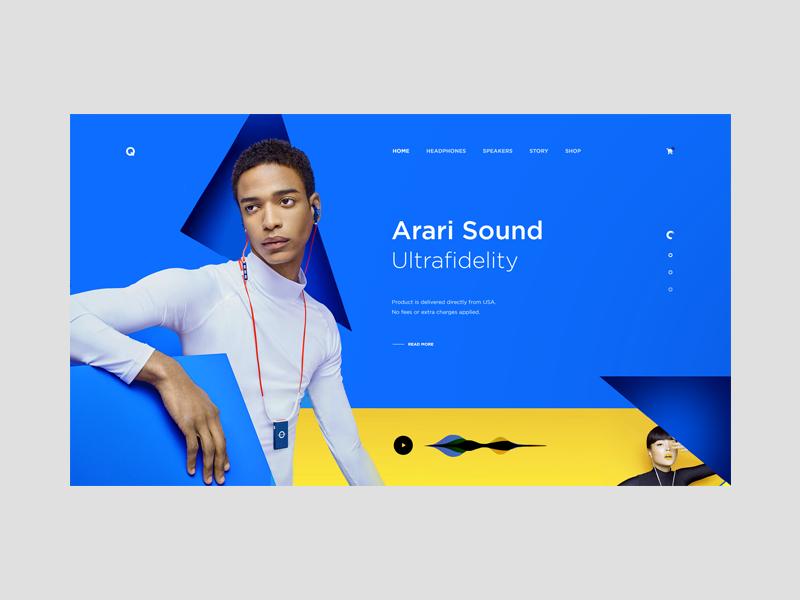 Qhertz Hi-Fi Audio — Concept tavdro sandro tavartkiladze typography colors inspiration design web minimalism white clean headphone headphones music audio whitespace grid minimal ui
