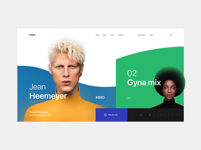 Mixer Podcast — Concept tavartkiladze sandro podcast audio music mixer web purple green blue and yellow design art interface white grid clean whitespace minimalism minimal ui