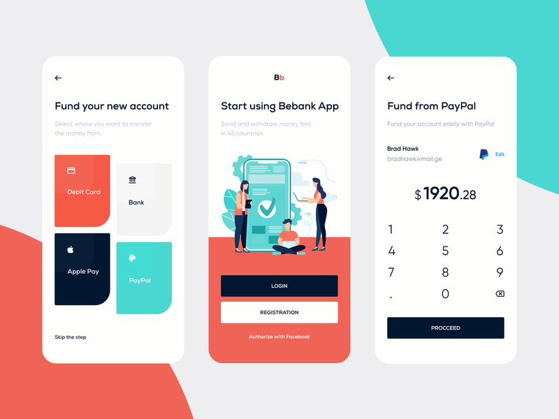 Bebank — Mobile Banking whitespace clean ux ux-ui finance app finances app finance bank app bank app mobile app fund splash screen mobile banking banking mobile ios ui tavdro sandro tavartkiladze