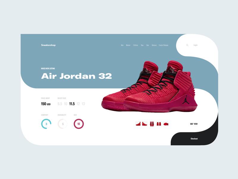 Sneakershop whitespace clean minimal ui shoe store shoes basketball air jordan sneaker product shop app ecommerce nike jordan sport app shop sports sneakers tavdro sandro tavartkiladze