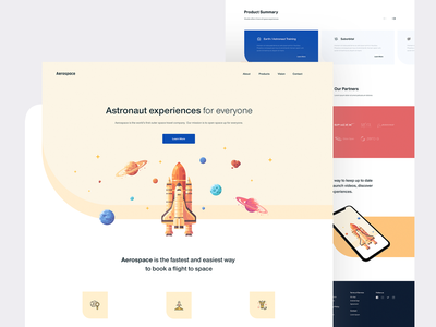 Aerospace — Flight Booking (WIP) flight interface inspiration landing page booking app book app book space travel space cosmos whitespace clean minimal tavdro sandro tavartkiladze