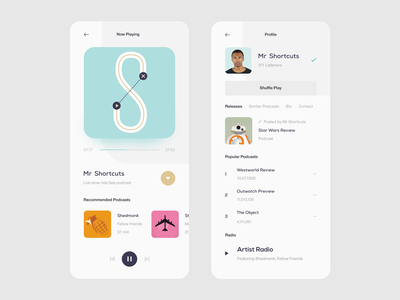 Podcast App — Player & Profile