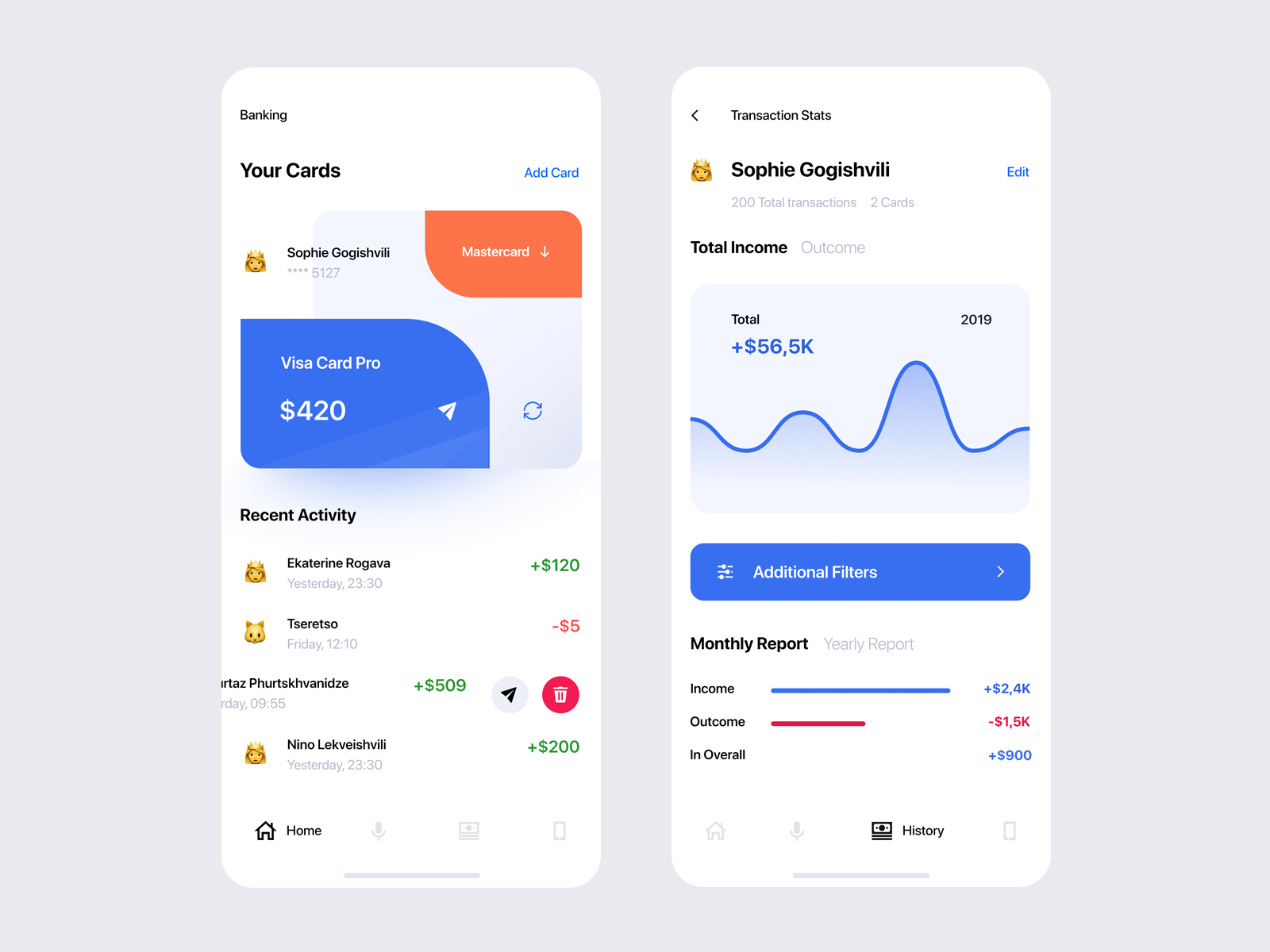 Banking App Design Inspiration