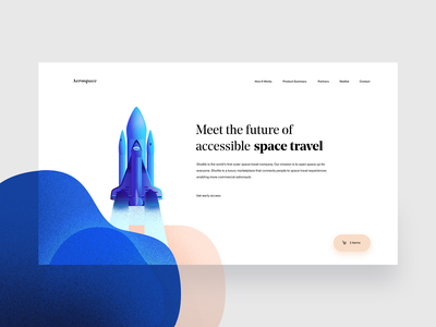 Aerospace — Flight Booking Landing (Unused Version 2) inspiration grid ux white landing page flight booking app flight booking flight space rocketship rocket spaceship interface whitespace clean ui minimal tavdro sandro tavartkiladze minimalism