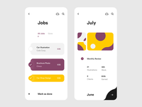 Freelance App — Job List View & Monthly Insights