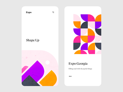 Shape Up. (Colored Version) application colors minimal clean app ndro tavdro sandro tavartkiladze