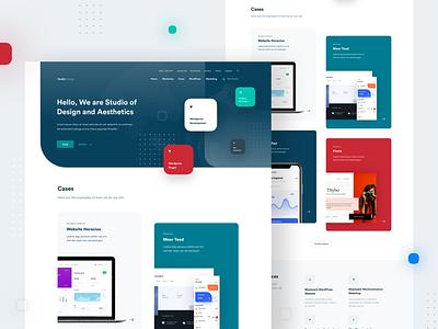 Design Studio — Main Page ndro branding vector logo illustration whitespace clean minimal tavdro sandro tavartkiladze agency design studio design studio