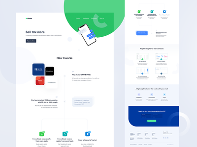 How it works page for Marketing Platform whitespace light ui clean marketing ndro sandro tavartkiladze web works how explanation how it works