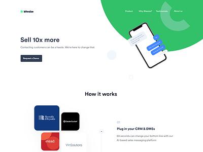 How it works page for Marketing Platform whitespace light ui clean marketing ndro sandro tavartkiladze web works how explanation how it works