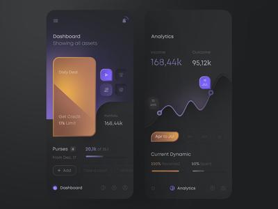 Financial App — Neumorphic Study