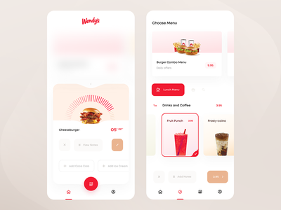 Wendy's Kiosk App — Status Check & Order tbilisi georgia smoothie iced coffee latte frosty-ccino fruit punch cheeseburger coffee drinks payment burger order status check fast food mcdonalds kiosk countdowntimer countdown wendys