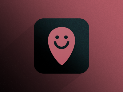 Happy Place Icon (Daily UI Day 5) happy placepin location iphone icon 005 dailyui