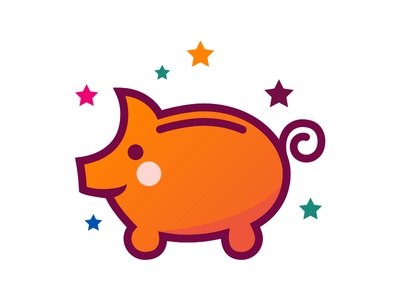 Piggy Bank pig icon