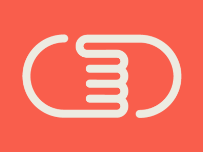 Logo concept logo icon hands red simple curves line circles