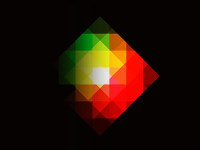 Defraction prism light color pixelation