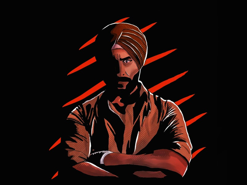 Sartaj - Sacred Games Illustration