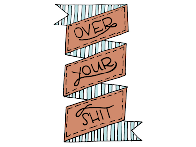 Over It banner illustrator vector