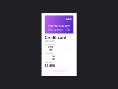 Credit Card Application Calculator