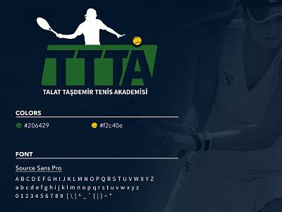 Tennis Academy Logo logo designs logotype logo identity icon tennis logo logo idea logo design logo identity logo branding