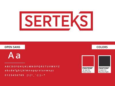 Serteks Logo logodesign logosketch logo design logotype logo textile logo