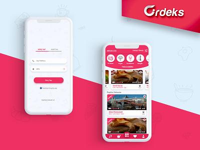Ordeks mobile app restaurant app uidesign