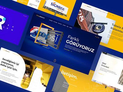 Mayrek - Advertising Agency website ui agency website branding webdesign