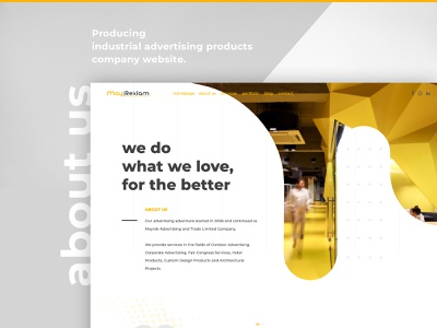 About us Page website agency website webdesign uidesign