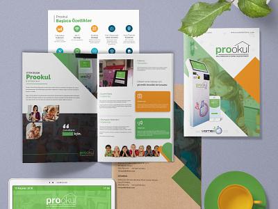 ProOkul - Brochure Design school app design child kids mockup brochure design brochure branding