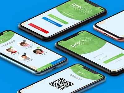 ProOkul - Mobile App UI ui kids app school app mobile app mobile ui app design mockup uidesign