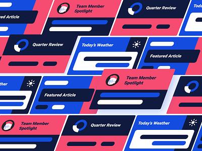 Appspace - Product Illustrations pink red simple technology minimal flat app web ui blue illustration ui design branding illustrator