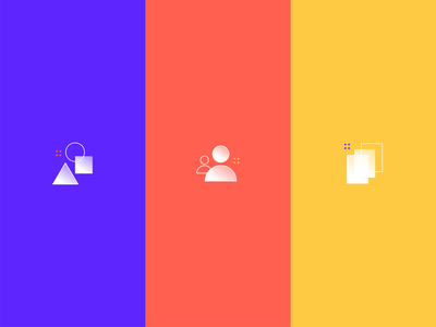Highlight Reel Icons for CrateBind app design yellow red minimal blue flat daily ui illustration icon ui design vector illustrator branding