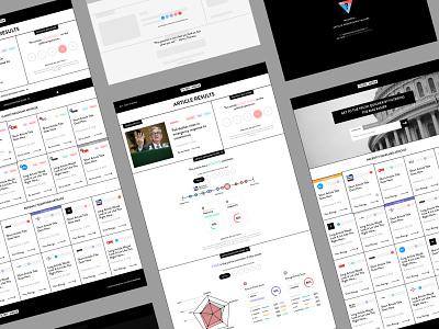 Filter Media Website figma grid newspaper color minimal black and white app political typography ux ui design