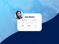 Daily UI - Profile